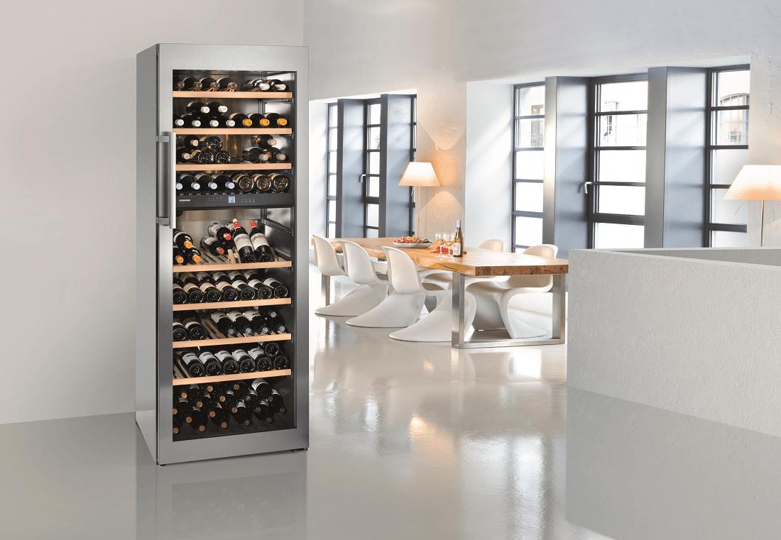 cave à vin intérieur blanc